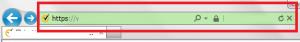銀行口座が本物かを示すブラウザの緑の鍵IE